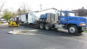 Our Okuma 560V being delivered.